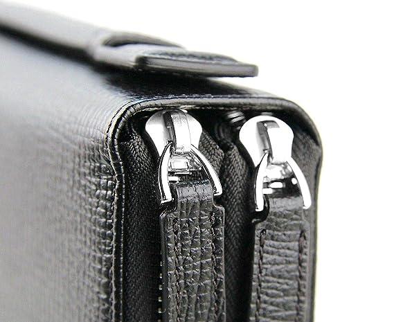 Amazon.com: Bolso de piel para viaje, con cremallera y asa ...