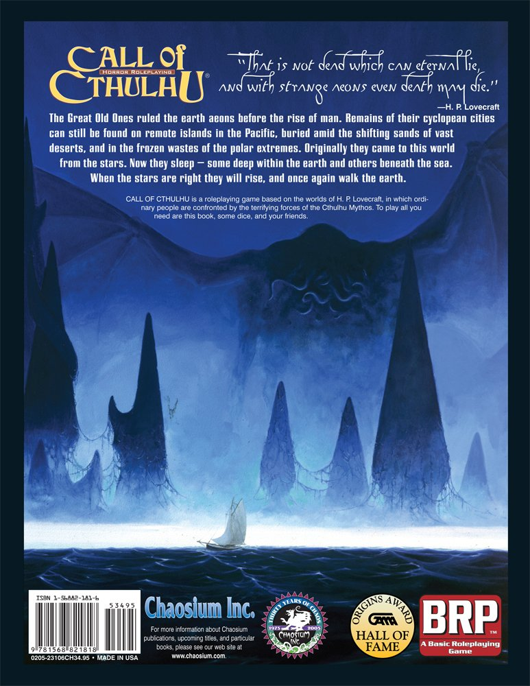 Call Of Cthulhu Horror Roleplaying In The Worlds Of H P