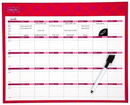 amazon com mead organizher write n wipe monthly planning calendar