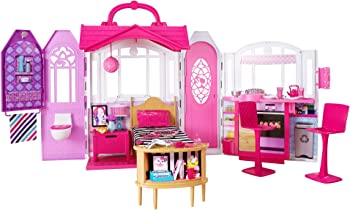 Barbie Portable Glam Getaway Dollhouse With Furniture