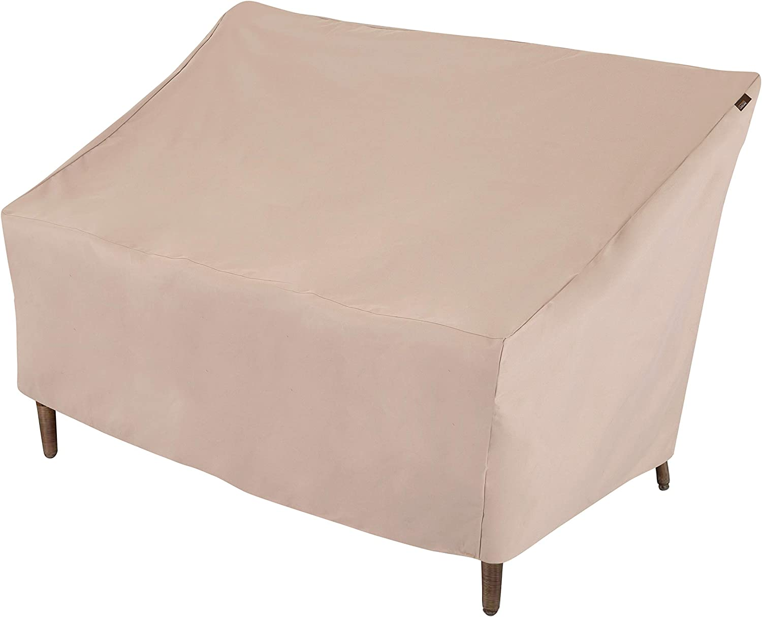 Modern Leisure 2929 Chalet Patio Love Seat Cover (57.5 L D x 38 H inches) Water-Resistant, Large, Khaki/Fossil