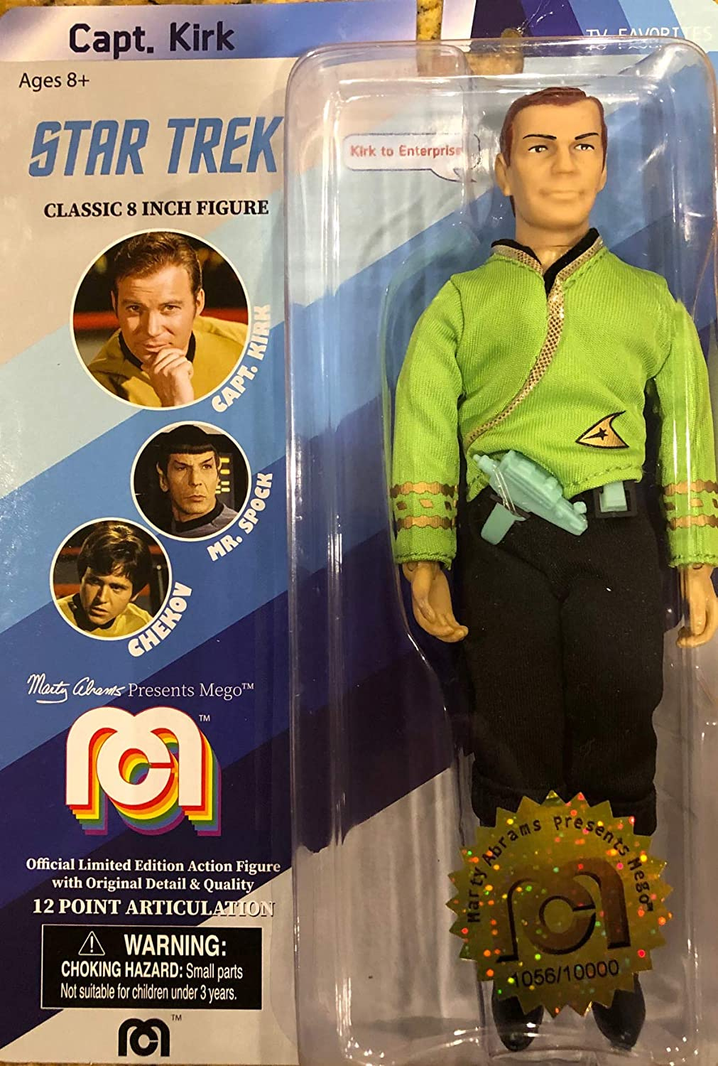 Star Trek Captain Kirk Classic 8 Figure by Marty Abrams Limited Edition 10,000 pcs