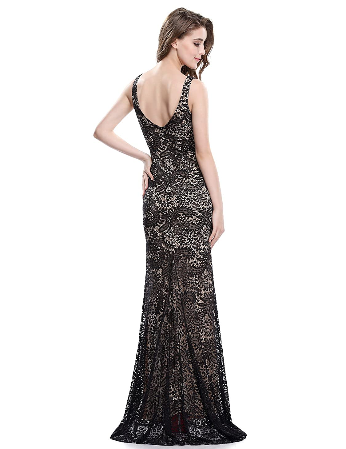 Ever Pretty Womens Elegant Lace Sleeveless Long Evening Dress 08859: Amazon.co.uk: Clothing