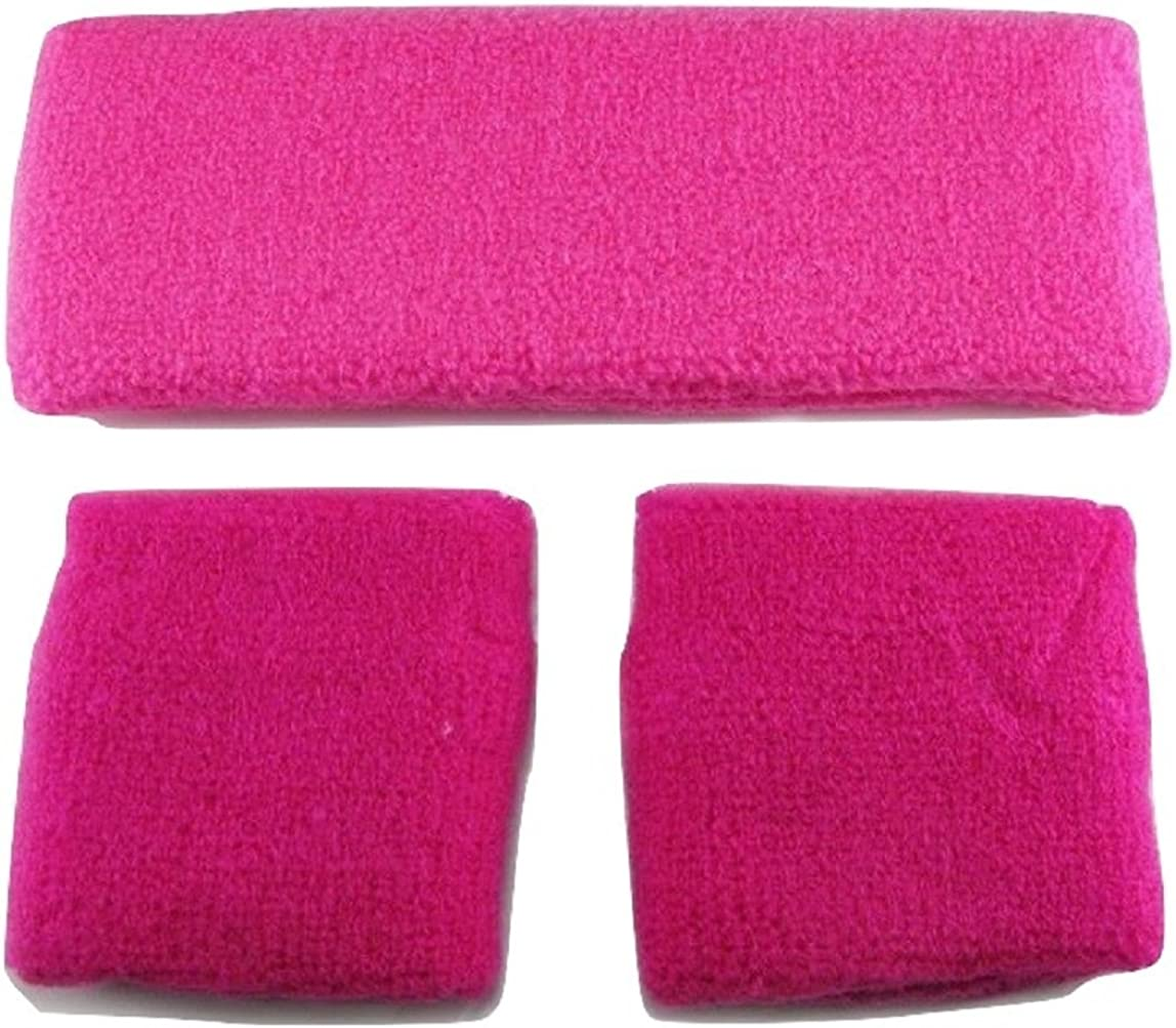 L/&L/® Unisex Cotton 2 pcs Wristband 1 pcs Headband Set Gym Sport Sweatbands UK