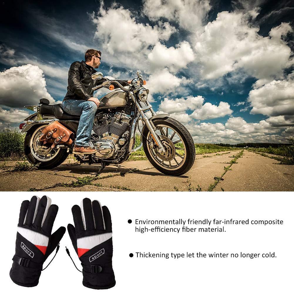 Guantes de calefacci/ón para motocicletas Hombres Mujeres Guantes el/éctricos calientes recargables con calefacci/ón Kit de guantes de calor con bater/ía de 12 v guantes de aislamiento t/érmico para