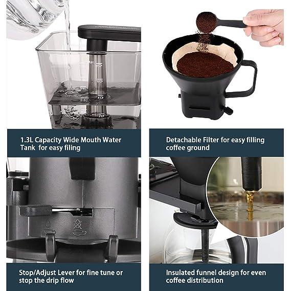 Amazon.com: Cafetera de café de 8 tazas, cafetera automática ...