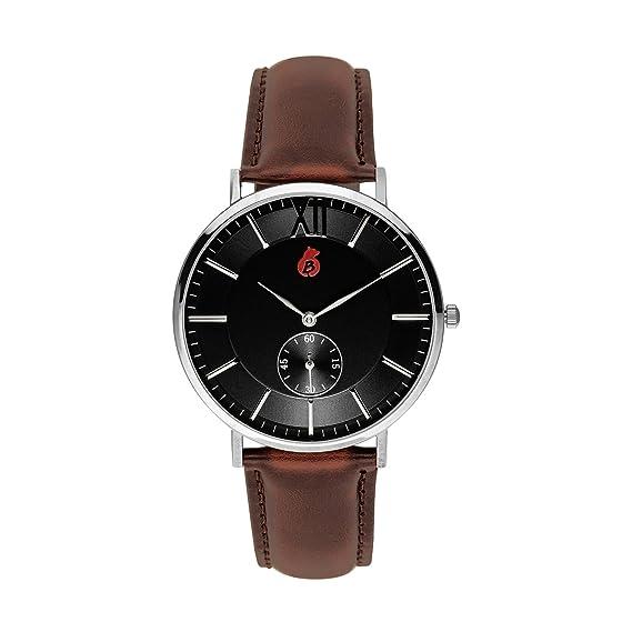 Reloj De Pulsera De Hombre De Berlín Bling - Elegante Quartz de reloj con pulsera de piel auténtica - FRIEDRICHS Hain Edition: Amazon.es: Relojes