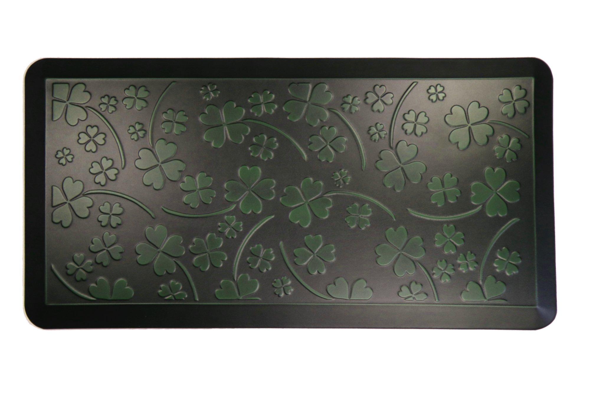 AMCOMFY Kitchen Anti Fatigue Mat,Comfort Floor Mats,Standing Desk Mats,Antique Series (20''x39''x3/4'', Clover Green)