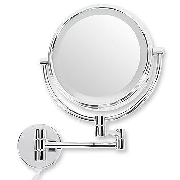 Hervorragend casa pura® Kosmetikspiegel für die Wandmontage | mit LED  NO68