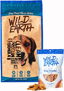 Wild Earth Vegan High Protein Formula Dry Dog Food and Peanut Butter Clean Protein Dog Treats