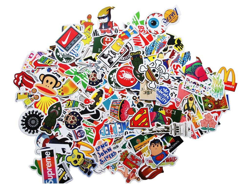100 Aufkleber Sticker Retro Graffiti Style Reisen