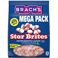 Brach's Star Brites Peppermint Starlight Mints Hard Candy, 5.6 lbs Bulk Candy Bag Individually Wrapped Bulk Holiday…