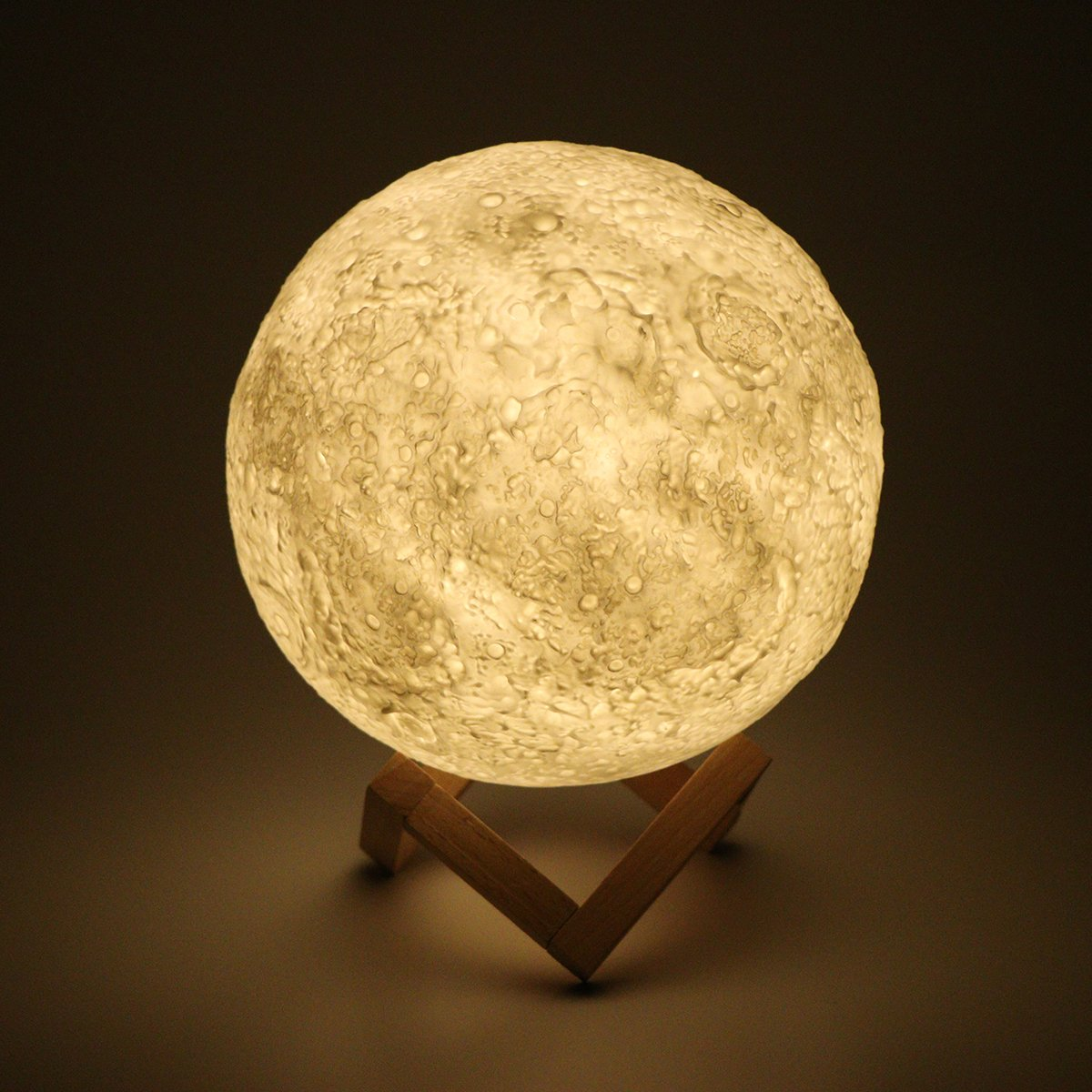 Amazon.com : Night Light 3D Printing Moon Lamp, 3 Colors Dimmable ...