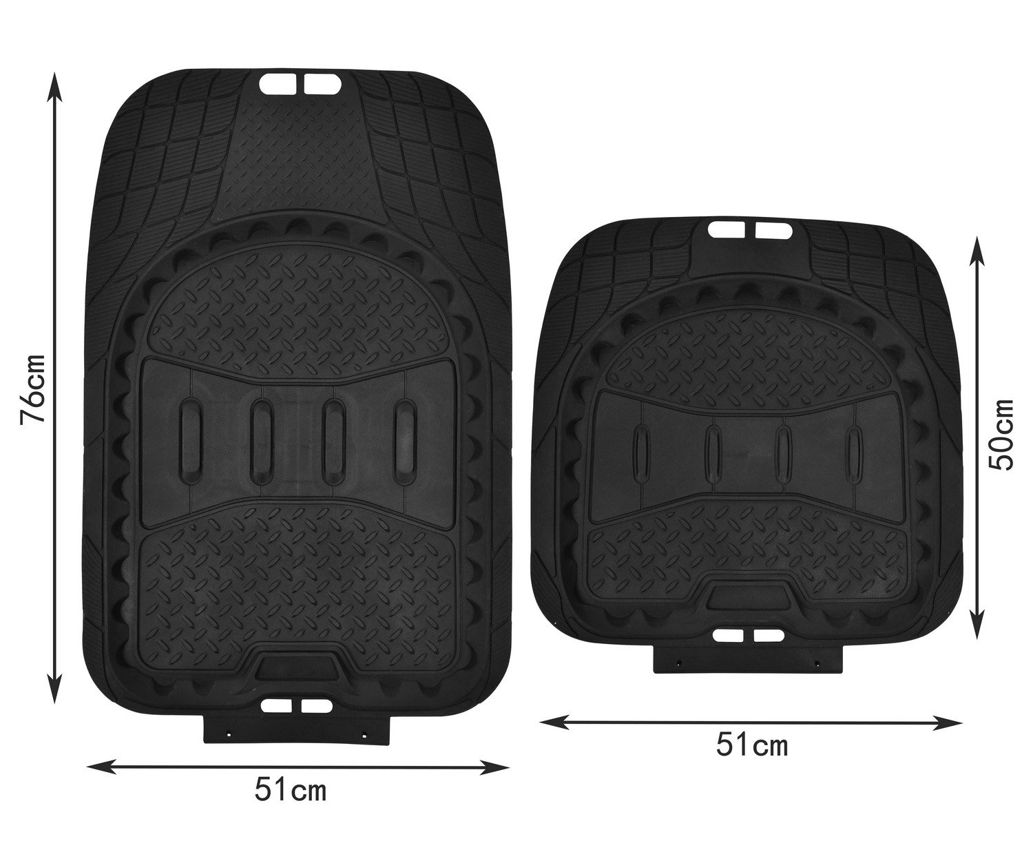 Heavy Duty Rubber Floor Mats Car Floor Mats 4pc All Weather Protection Universal Car Truck Suv Black