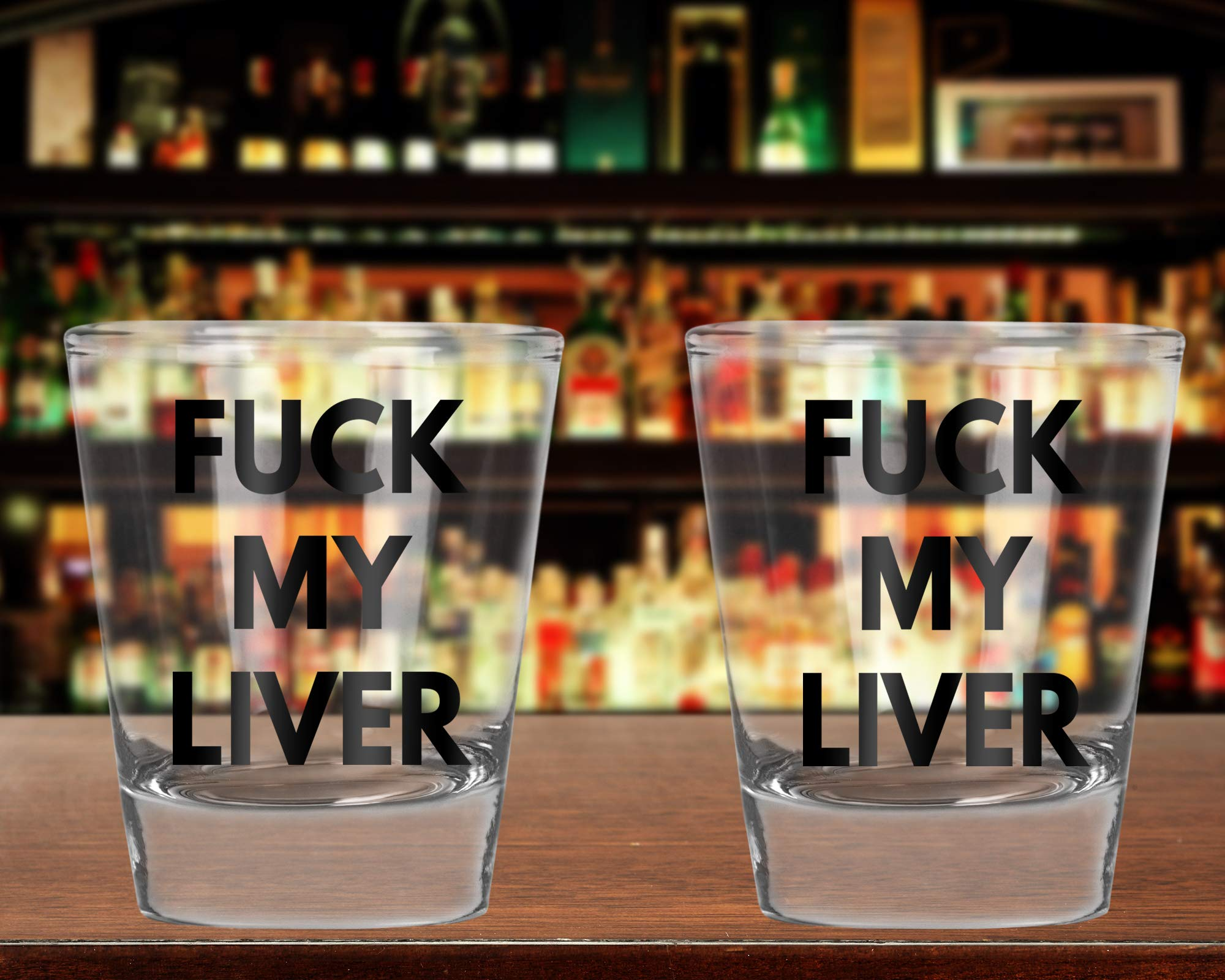 CBTwear – Fuck My Liver – Funny Birthday – College Drinking Humor – 1.75 OZ Shot Glass (2)
