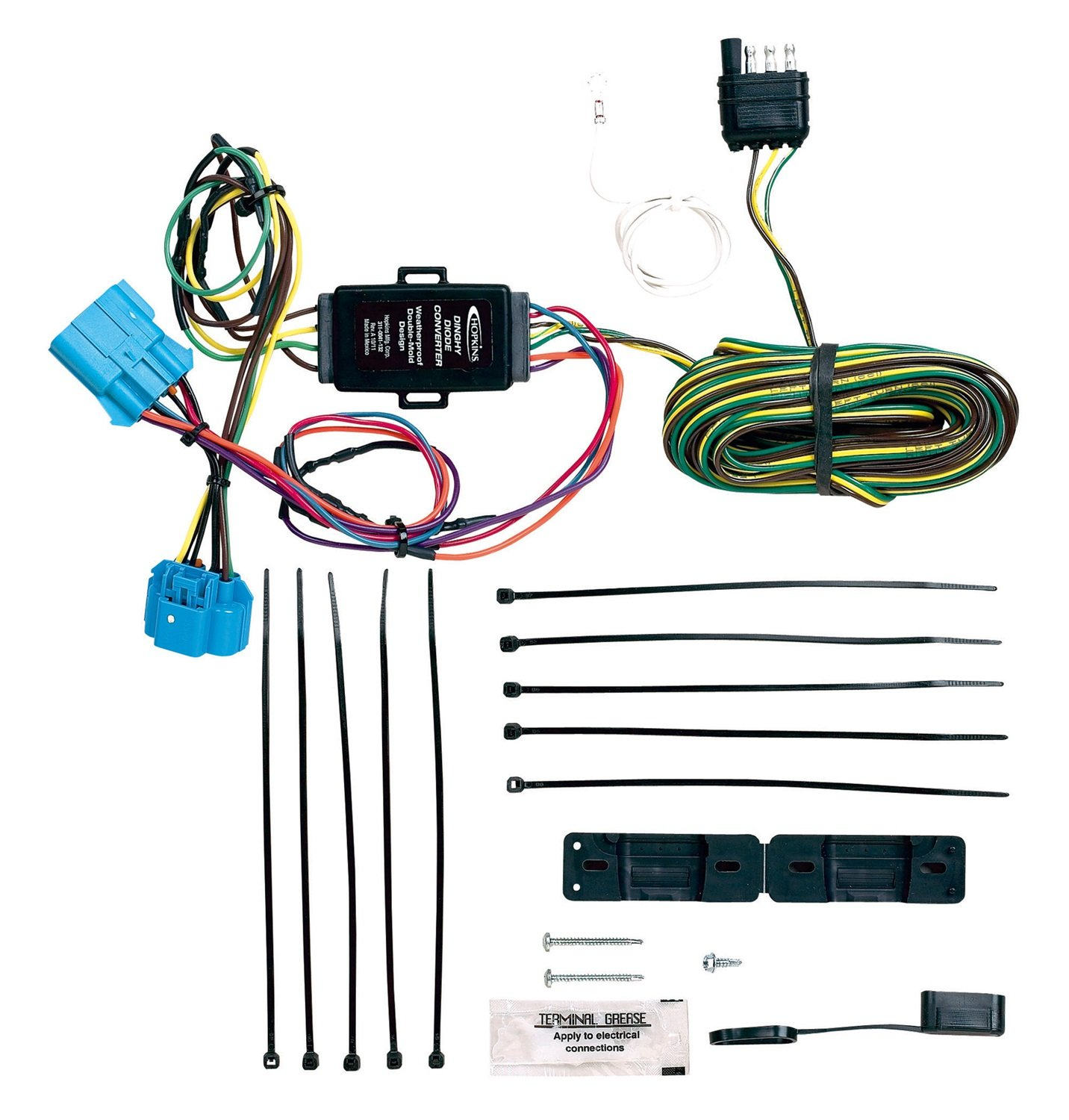 Hopkins 56101 Plug In Simple Towed Vehicle Wiring Kit Harness Automotive