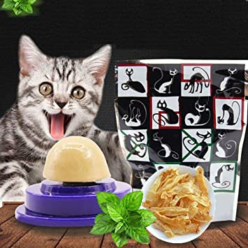 alpsacale Cat Sugar Ball Cat Ball Toy Snacks Candy Licking Solid Nutrition Energy