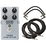 MXR M89 Bass Overdrive Pedal with Volume, Tone, Drive and Clean Controls with 2 Path Cable and 2 Instrument Cable