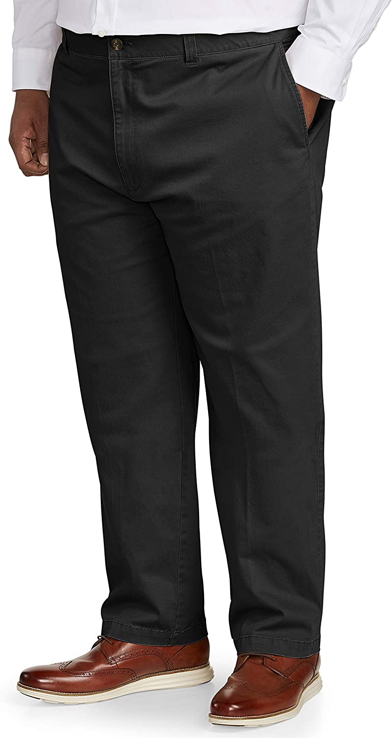 Essentials Men's Big & Tall Relaxed-fit Casual Stretch Khaki Pant fit by DXL fit by DXL: Clothing