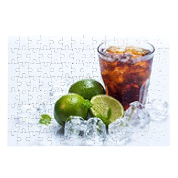 Fresh cocktail with cola drink and lime Puzzle - sonstige, siehe ...
