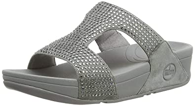 c3b2337eb6d6a8 Image Unavailable. Image not available for. Color  FitFlop Women s Rokkit  Crystal Slide Sandal ...