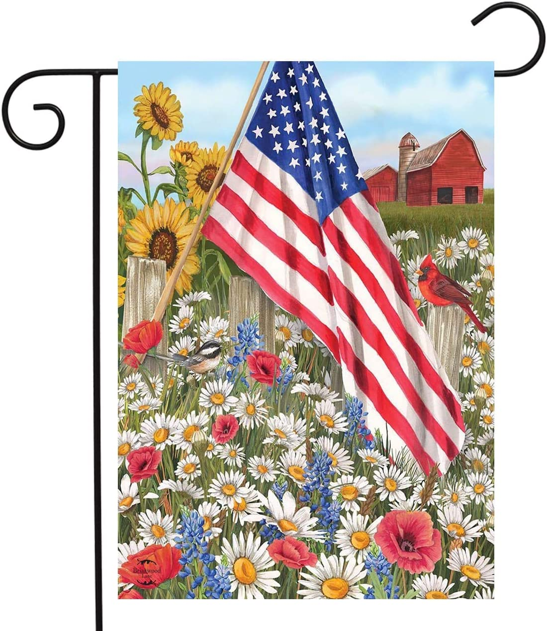 Details about  /Barbecue Decorative USA Vintage Applique Garden Flags Pack GP106076-BOAA