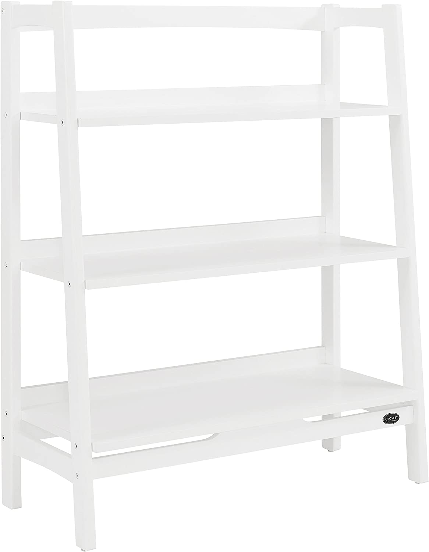 Crosley Furniture Landon Wide Etagere Bookcase, White