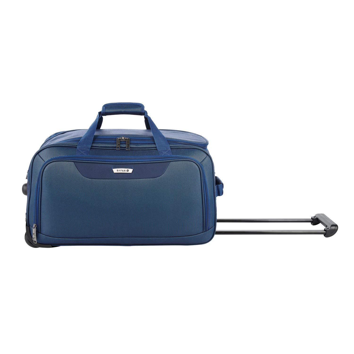 Safari Polyester Stylish Blue Color Rolling Wheel Duffel Travel Bag (Rockies  RDFL 55 Blue)  Amazon.in  Bags df860bfa4c6ed