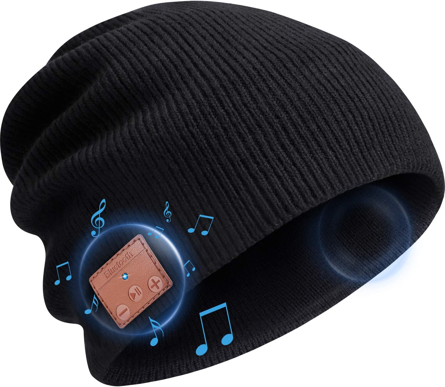 Warm Winter Knitted Music Beanie Hat w//Built-in Headphone /& Mic for Fitness Exercise Running Walking Dog Winter Sports CestMall Unisex Bluetooth Hat Headset Cap with Touchscreen Gloves Set