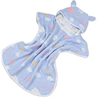 TOYANDONA Hooded Baby Towel Swim Coverups Bathrobe Beach Bath Towel Kid Hooded Beach Towel Cartoon Cotton Blanket Cloak…
