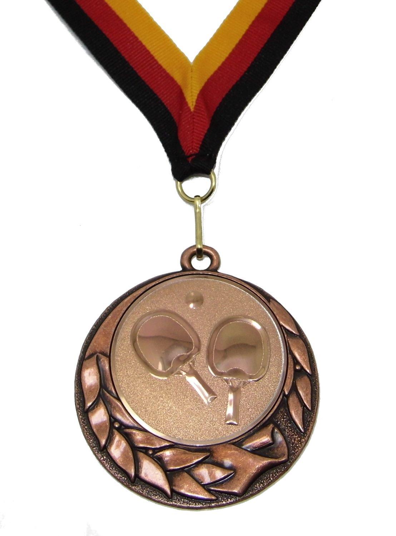 Pokale & Preise 1 große Smiley-Medaille mit Deutschland-Band