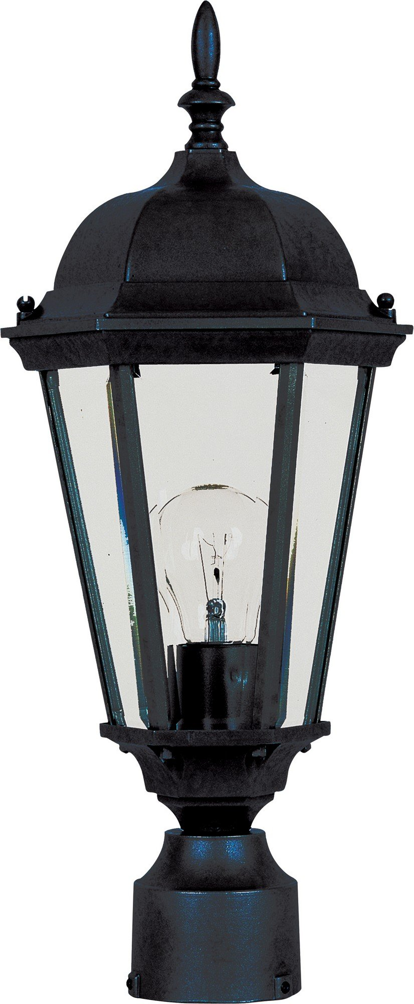 Maxim 1001BK, Westlake Cast, 1 Light Outdoor/Post Lantern, Black