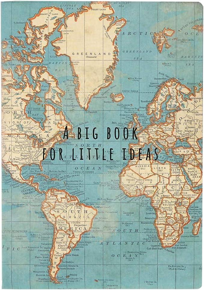 Sass & Belle- Libreta Vintage Mapa Mundi, Color Azul (CR145): Amazon.es: Juguetes y juegos