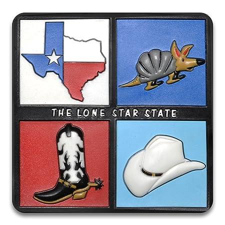 Lone Star Estado Flexible moldeado de goma muy resistente imán ...