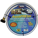 "Valterra AquaFresh High Pressure Drinking Water Hose, Water Hose Hookup for RV - 1/2"" x 10', White"