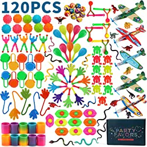 Amy&Benton 120pcs Party Favours Assortment for Kids Bulk Party Fillers Toys Loot Bag Fillers Toy Bulk Gift Toys for Boys Girls 3 4 5 Years