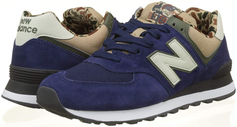 New Balance Herren Ml574E Sneaker, braun blau / grün / braun Sneaker, e0a123