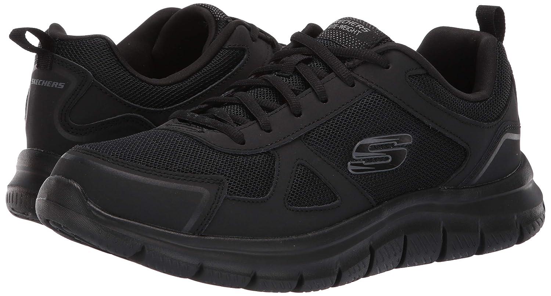 Skechers Men's Track Scloric Oxford, Black, 9.5 2E US