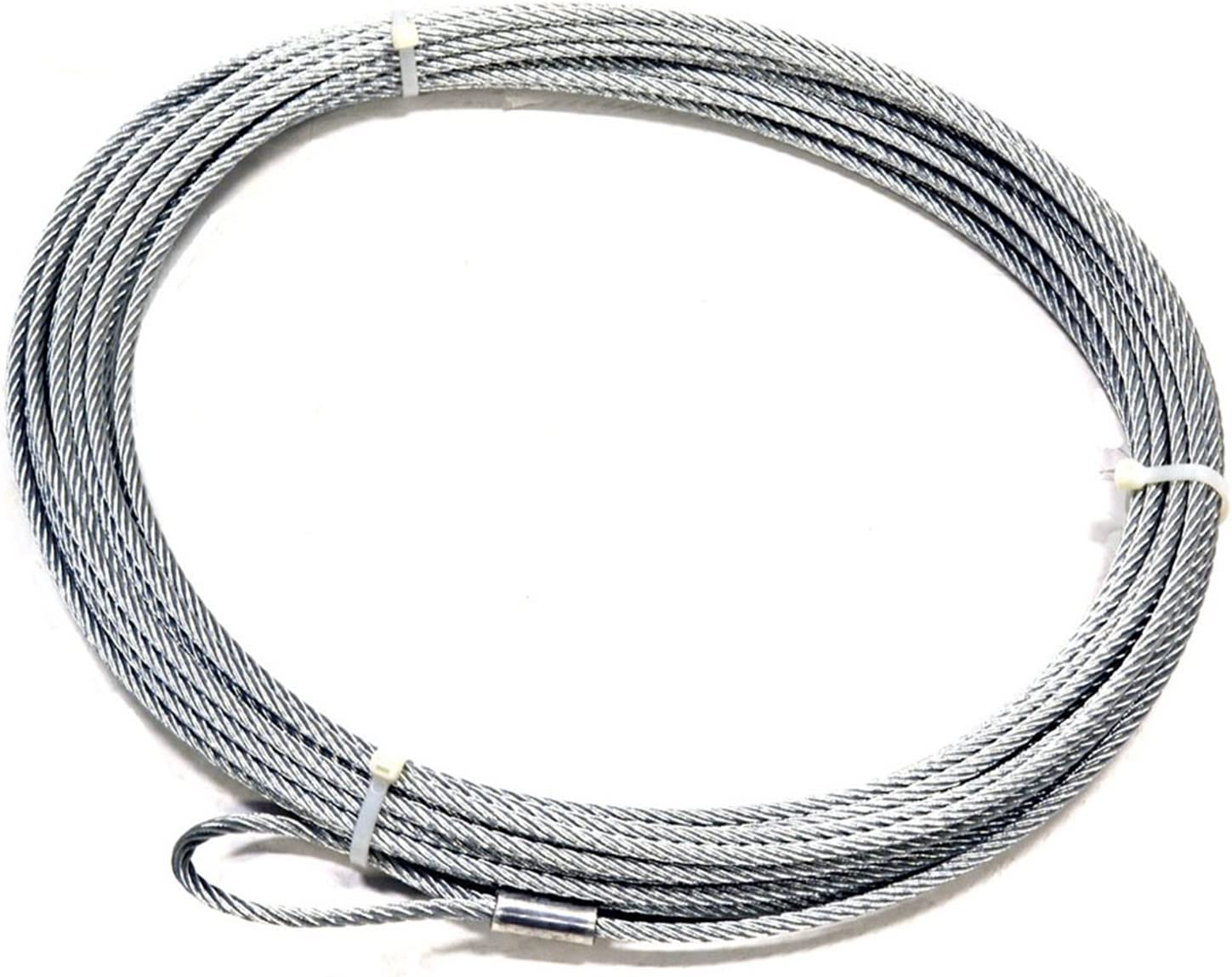 """B00029XEGG WARN 27110 Winch Accessory: Steel Cable Wire Rope with Loop End and Terminal, 5/16"""" Diameter x 100' Length 71p6ck0kn8L.SL1500_"""