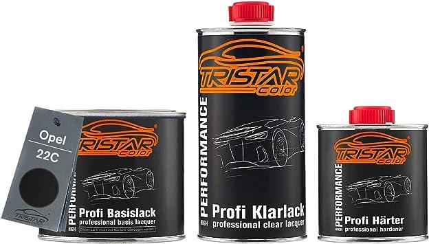 Tristarcolor Autolack Set Dose Spritzfertig Für Opel 22c Graphitschwarz Metallic Carbon Flash Metallic Basislack 2k Klarlack 1 25l Auto