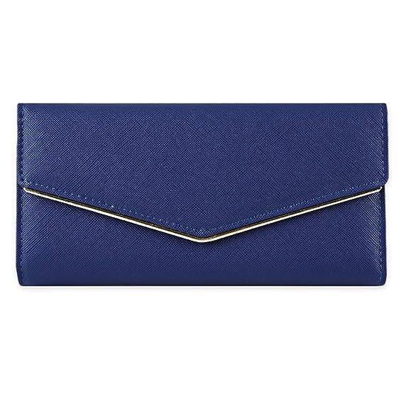 XXIAZHI,Cartera desmontable del bolso de embrague del tenedor de la tarjeta de efectivo del negocio del partido de moda de las mujeres(color:AZUL): ...