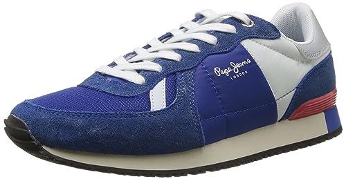 Pepe Jeans London TN-290 D PMS30018 550 - Zapatillas de Tela para Hombre, Color Azul, Talla 42: Amazon.es: Zapatos y complementos