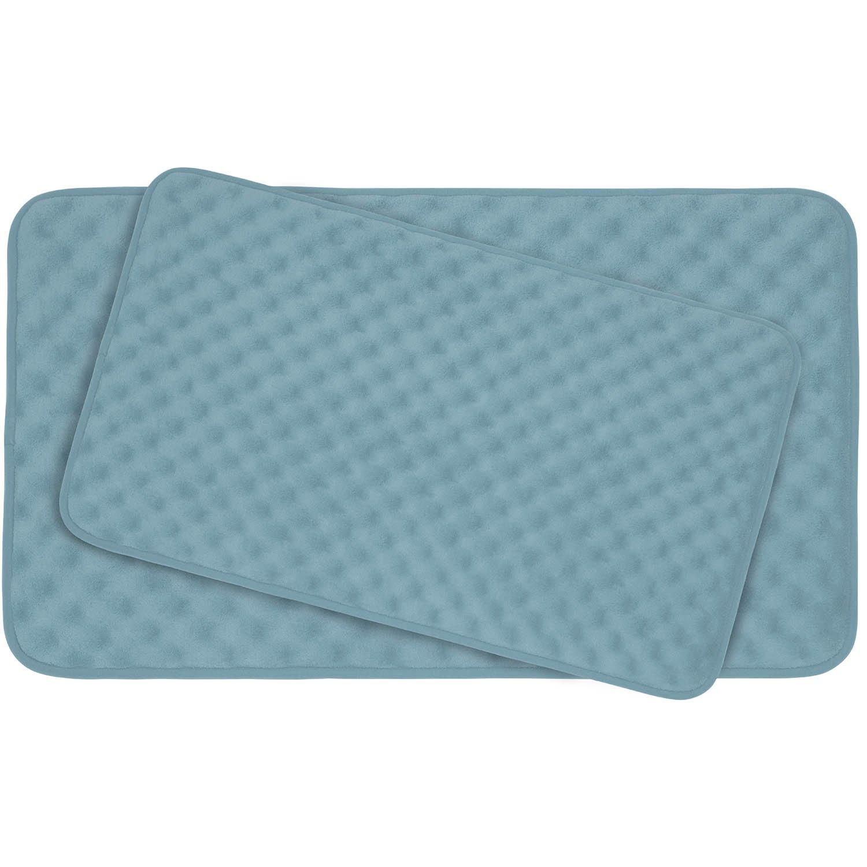 Bounce Comfort Extra Thick Memory Foam Bath Mat Set - Massage Plush 2 Piece Set with BounceComfort Technology
