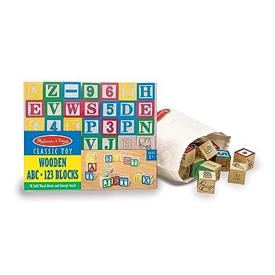 Melissa & Doug Wooden ABC/123 Blocks: Melissa & Doug: Toys & Games