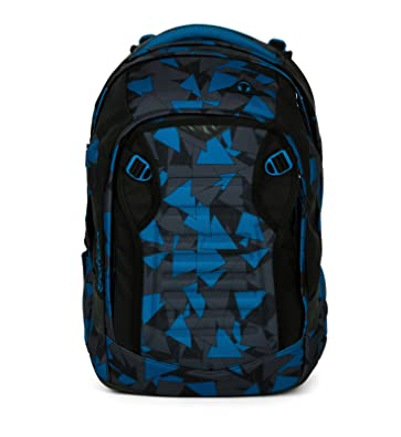 2a55fa32db844 Satch MATCH by Ergobag Blue Triangle 3-tlg. Set Schulrucksack + Sporttasche  + Schlamperbox