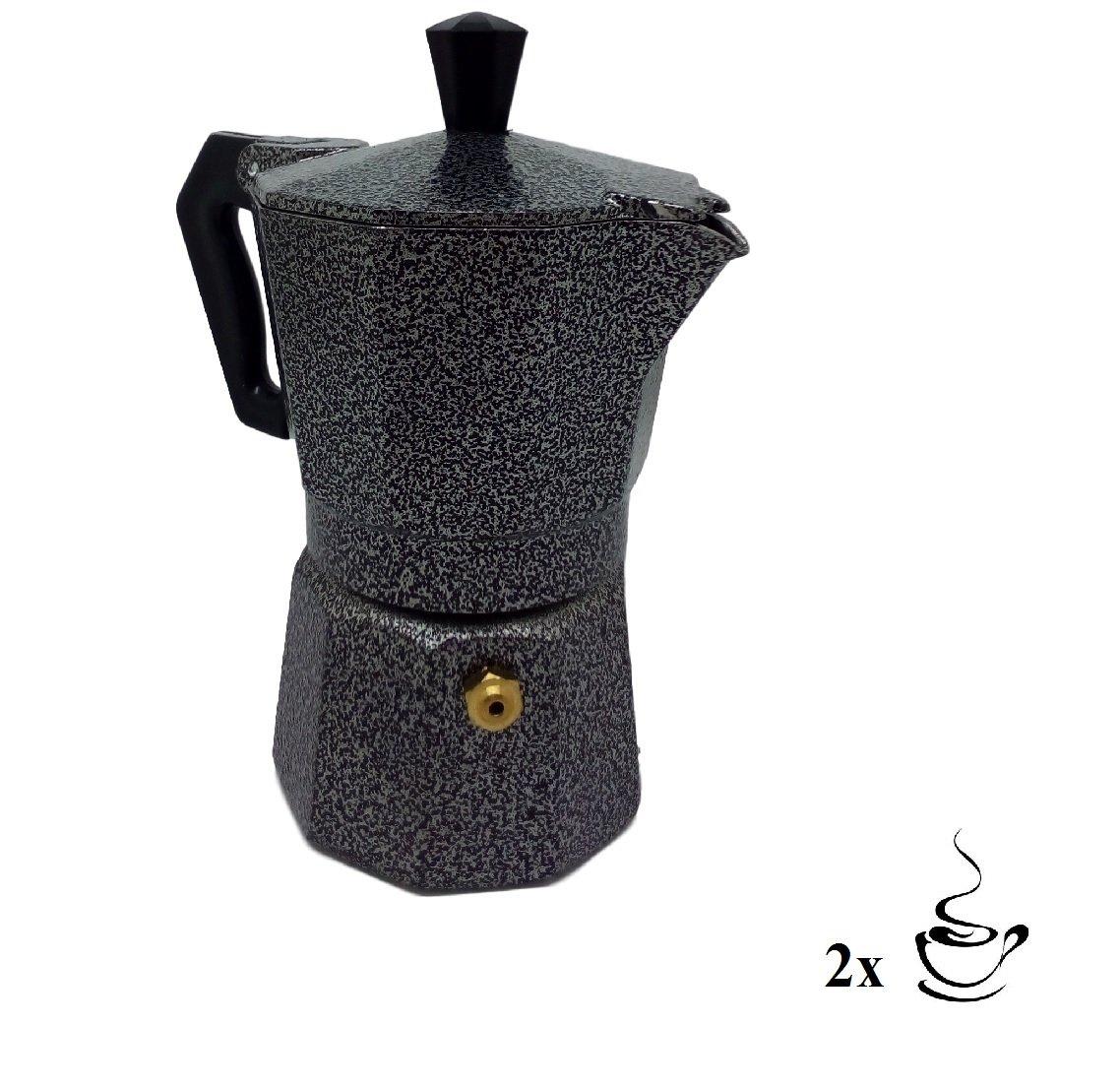 Ducomi Moka Express - Cafetera espresso para 1 taza (Aluminio)