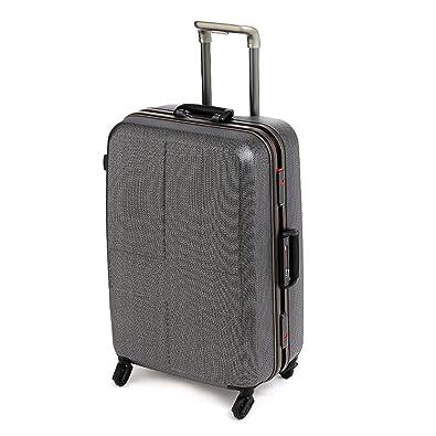66a80f2214 Amazon | (イノベーター) innovator スーツケース キャリー ハード 旅行 60L 中型 5泊~6泊程度 2.ブラッククロスカーボン  | スーツケース