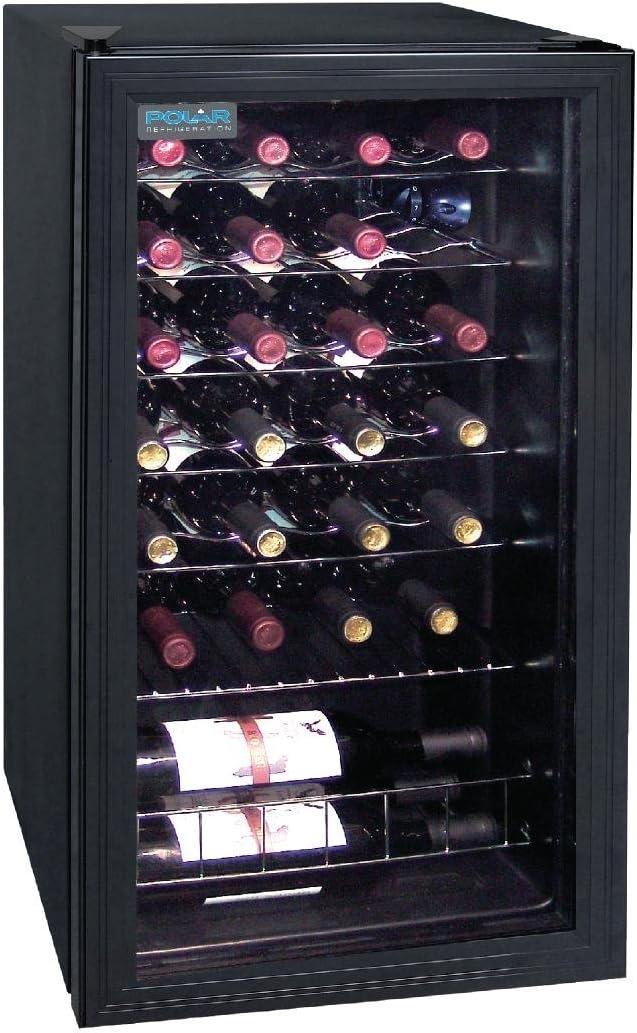 Polar Cave à vin double zone,  26 bouteilles 825 X 430 x 480 mm, affichage LED, réfrigérateur à boissons.