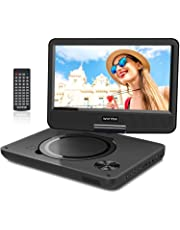 """WONNIE 2019 Upgrade 11.5"""" Portable DVD Player with 9.5 inches 270° Swivel Screen, Best Gift for Kids, Support USB/SD Slot, Direct Play in Formats AVI/MP3/JPEG/RMVB (11.5, Black)"""