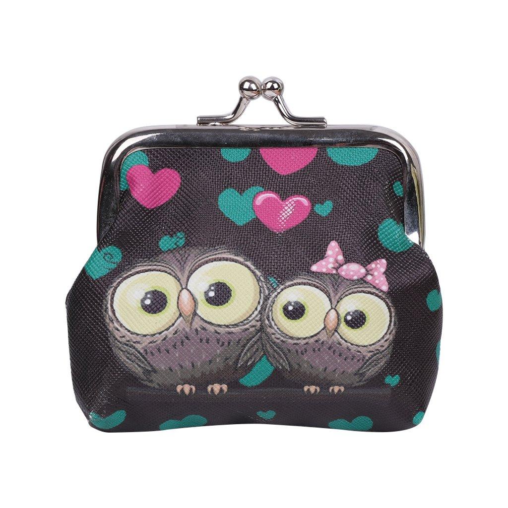 SimpleLif Hasp Purse Key Coin Wallet Bag Cute Wallet Keys Pouch Retro Owls Clutch Purse Bag